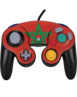 Morocco Flag Distressed Nintendo GameCube Controller Skin