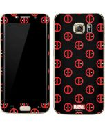 Deadpool Logo Print Galaxy S7 Edge Skin