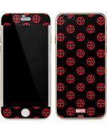 Deadpool Logo Print iPhone 6/6s Skin