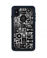 Music Pattern iPhone XS Waterproof Case