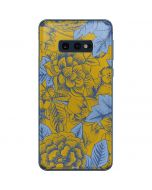 Mustard Yellow Floral Print Galaxy S10e Skin
