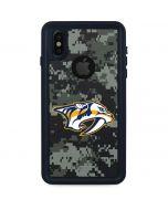 Nashville Predators Camo iPhone X Waterproof Case