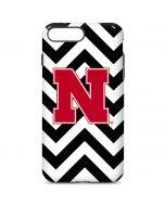 Nebraska Black Chevron Print iPhone 7 Plus Pro Case