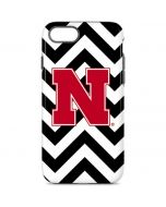 Nebraska Black Chevron Print iPhone 8 Pro Case