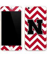 Nebraska Red Chevron Print iPhone 6/6s Plus Skin