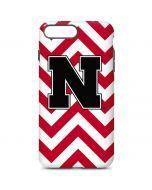 Nebraska Red Chevron Print iPhone 7 Plus Pro Case