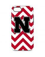 Nebraska Red Chevron Print iPhone 8 Pro Case