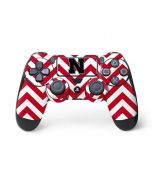 Nebraska Red Chevron Print PS4 Pro/Slim Controller Skin