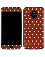 Neutral Polka Dots Moto X4 Skin