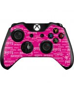New England Patriots - Blast Pink Xbox One Controller Skin