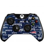 New England Patriots Blast Xbox One Controller Skin