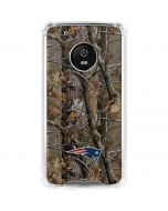 New England Patriots Realtree AP Camo Moto G5 Plus Clear Case