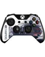 New England Patriots Super Bowl Champs Xbox One Controller Skin