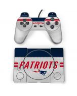 New England Patriots White Striped PlayStation Classic Bundle Skin