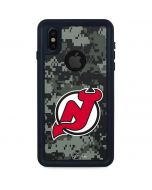 New Jersey Devils Camo iPhone XS Waterproof Case