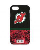 New Jersey Devils Retro Tropical Print iPhone 8 Pro Case