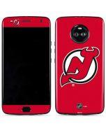 New Jersey Devils Solid Background Moto X4 Skin