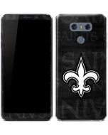 New Orleans Saints Black & White LG G6 Skin