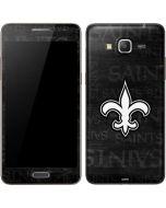 New Orleans Saints Black & White Galaxy Grand Prime Skin