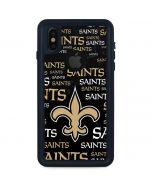 New Orleans Saints Black Blast iPhone X Waterproof Case