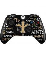 New Orleans Saints Black Blast Xbox One Controller Skin