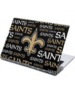 New Orleans Saints Black Blast Yoga 910 2-in-1 14in Touch-Screen Skin