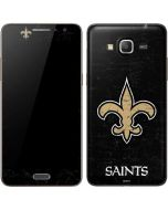 New Orleans Saints Distressed Galaxy Grand Prime Skin