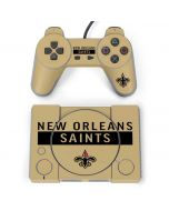 New Orleans Saints Gold Performance Series PlayStation Classic Bundle Skin