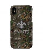 New Orleans Saints Realtree Xtra Green Camo iPhone XS Max Lite Case