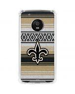 New Orleans Saints Trailblazer Moto G5 Plus Clear Case