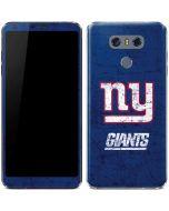 New York Giants Distressed LG G6 Skin