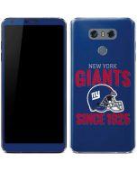 New York Giants Helmet LG G6 Skin