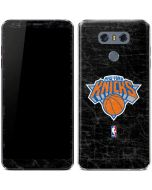 New York Knicks Black Secondary Logo LG G6 Skin