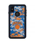 New York Knicks Digi Camo iPhone XS Waterproof Case
