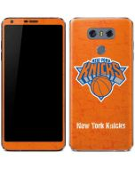 New York Knicks Orange Primary Logo LG G6 Skin