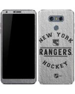 New York Rangers Black Text LG G6 Skin