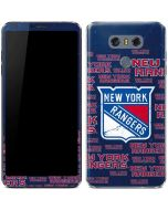 New York Rangers Blast LG G6 Skin
