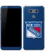 New York Rangers Distressed LG G6 Skin