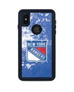 New York Rangers Frozen iPhone XS Waterproof Case