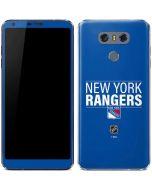 New York Rangers Lineup LG G6 Skin