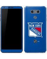 New York Rangers Solid Background LG G6 Skin