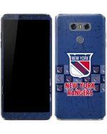 New York Rangers Vintage LG G6 Skin