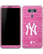 New York Yankees - Pink Cap Logo Blast LG G6 Skin