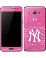 New York Yankees - Pink Cap Logo Blast Galaxy Grand Prime Skin