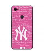 New York Yankees - Pink Cap Logo Blast Google Pixel 3 XL Skin