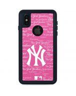 New York Yankees - Pink Cap Logo Blast iPhone X Waterproof Case