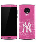 New York Yankees - Pink Cap Logo Blast Moto G6 Skin