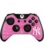 New York Yankees - Pink Cap Logo Blast Xbox One Controller Skin