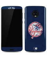 New York Yankees- Alternate Solid Distressed Moto G6 Skin