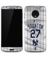 New York Yankees Stanton #27 Moto G6 Skin